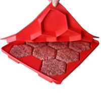 Shape + Store Burger Master 8-in-1 Burger Press in Red