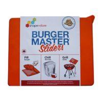 Shape + Store Burger Master Sliders 10-in-1 Burger Press in Orange