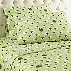 Micro Flannel® Sheep Print King Sheet Set in Green