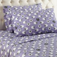 Micro Flannel® Sheep Print Full Sheet Set in Lavender