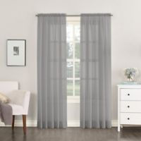 No. 918 Emily Sheer Voile 84-Inch Rod Pocket Window Curtain Panel in Charcoal