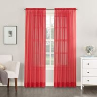 No. 918 Emily Sheer Voile 63-Inch Rod Pocket Window Curtain Panel in Pink