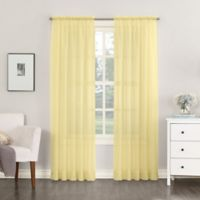 No. 918 Emily Sheer Voile 95-Inch Rod Pocket Window Curtain Panel in Yellow