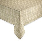Tuscan 52-Inch x 70-Inch Plaid Laminated Fabric Tablecloth in Oatmeal