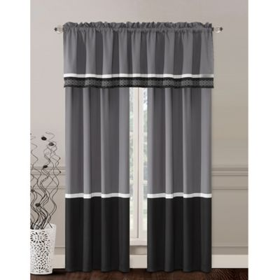 griffen 84inch rod pocket window curtain panel pair in