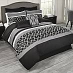 Griffen 9-Piece Queen Comforter Set in Black/White/Grey