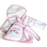 Silly Phillie® Creations Size 18M Terry Velour Hooded Bathrobe in Pink