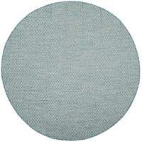 Safavieh Courtyard Check Indoor/Outdoor 6-Foot 7-Inch Round Area Rug in Light Blue/Light Grey