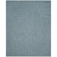 Safavieh Courtyard Check Indoor/Outdoor 8-Foot x 11-Foot Area Rug in Blue/Light Grey