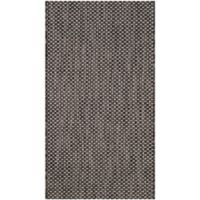 Safavieh Courtyard 2-Foot x 3-Foot 7-Foot Indoor/Outdoor Area Rug in Black/Beige