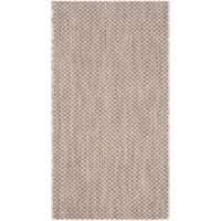 Safavieh Courtyard 2-Foot x 3-Foot 7-Inch Indoor/Outdoor Accent Rug in Beige/Brown