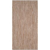 Safavieh Courtyard 2-Foot 7-Inch x 5-Foot Indoor/Outdoor Area Rug in Natural/Black