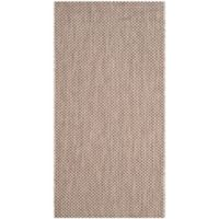Safavieh Courtyard 2-Foot 7-Inch x 5-Foot Indoor/Outdoor Area Rug in Beige/Brown
