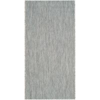 Safavieh Courtyard 4-Foot x 5-Foot 7-Inch Indoor/Outdoor Area Rug in Grey/Navy