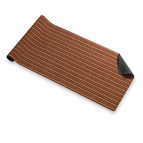 Bungalow Flooring Hansen Stripe 23 Inch X 60 Inch Microfibre Neoprene Runner