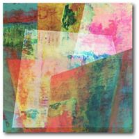 Courtside Market Shards Abstract II 16-Inch Square Canvas Wall Art