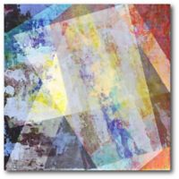 Courtside Market Shards Abstract III 16-Inch Square Canvas Wall Art