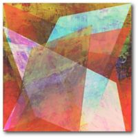 Courtside Market Shards Abstract IV 16-Inch Square Canvas Wall Art