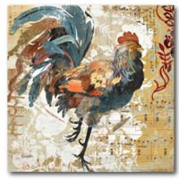 Courtside Market Colorful Rooster I 16-Inch Square Canvas Wall Art