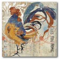 Courtside Market Colorful Rooster II 16-Inch Square Canvas Wall Art