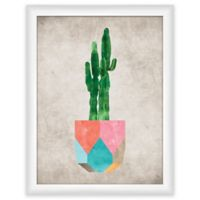 "PTM Images ""Cactus Geo I"" 13.5-Inch x 17.5-Inch Print Wall Art"