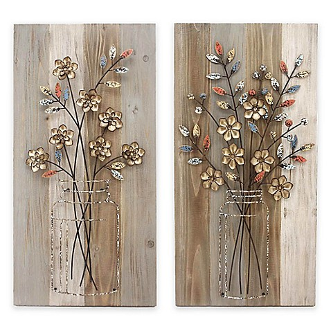 "Stylecraft ""Bouquet"" Wood and Metal Wall Art Collection ..."