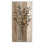 "Stylecraft ""Bouquet B"" 15.8-Inch x 31.5-Inch Wood and Metal Wall Art"