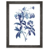 "PTM Images ""Indigo Flora II"" 13.5-Inch x 17.5-Inch Print Wall Art"