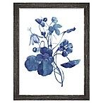"PTM Images ""Indigo Flora III"" 13.5-Inch x 17.5-Inch Print Wall Art"