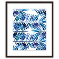 "PTM Images ""Indigo Palms II"" 17.5-Inch x 21.5-Inch Print Wall Art"