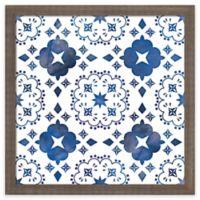 "PTM Images ""Indigo Tile I"" 17-Inch x 17-Inch Print Wall Art"