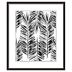 "PTM Images ""The Black Palms I"" 17.5-Inch x 21.5-Inch Print Wall Art"
