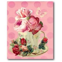 Courtside Market Cup Floral 16-Inch x 20-Inch Canvas Wall Art