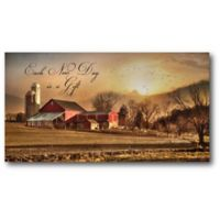 Courtside Market Sunrise at the Farm 24-Inch x 12-Inch Canvas Wall Art