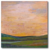 Courtside Market Peach Southern Sky 16-Inch Square Canvas Wall Art