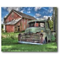 Courtside Market Green Pickup 20-Inch x 16-Inch Canvas Wall Art