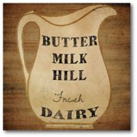 Courtside Market Buttermilk Dairy 16-Inch Square Canvas Wall Art
