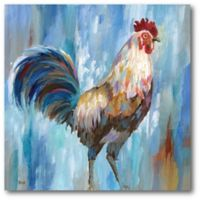 Courtside Market Rooster 16-Inch Square Canvas Wall Art