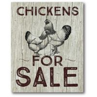 "Courtside Market ""Chickens for Sale"" 16-Inch x 20-Inch Canvas Wall Art"