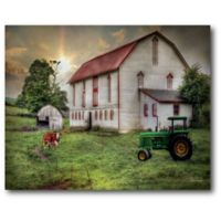 Courtside Market Country Living 18-Inch x 12-Inch Canvas Wall Art