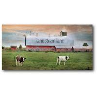 """Courtside Market """"Farm Sweet Farm"""" 24-Inch x 12-Inch Canvas Wall Art"""