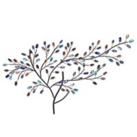 Southern Enterprises Brenchan Metal and Glass Tree Sculpture Wall Art
