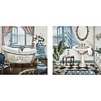 Bath 12-Inch x 24-Inch Canvas Wall Art (Set of 2)
