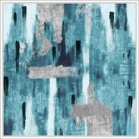 """PTM Images """"Blue Rainy"""" 28-Inch x 28-Inch Canvas Wall Art"""