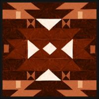Aztec Tribal Pattern 28-Inch Square Canvas Wall Art