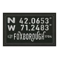 """Foxborough, MA"" 28-Inch x 16-Inch Print Wall Art"