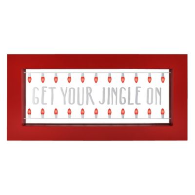 Buy led lighted wall decor from bed bath beyond jingle led lighted wall art aloadofball Images