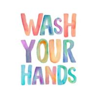 """Courtside Market """"Wash Your Hands"""" Wall Decal"""