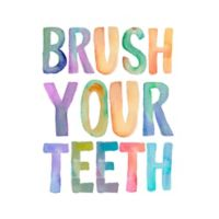 """Courtside Market """"Brush Your Teeth"""" Peel and Stick Wall Decal"""