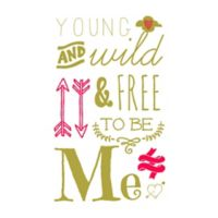 "Courtside Market ""Wild & Free"" Wall Decal"